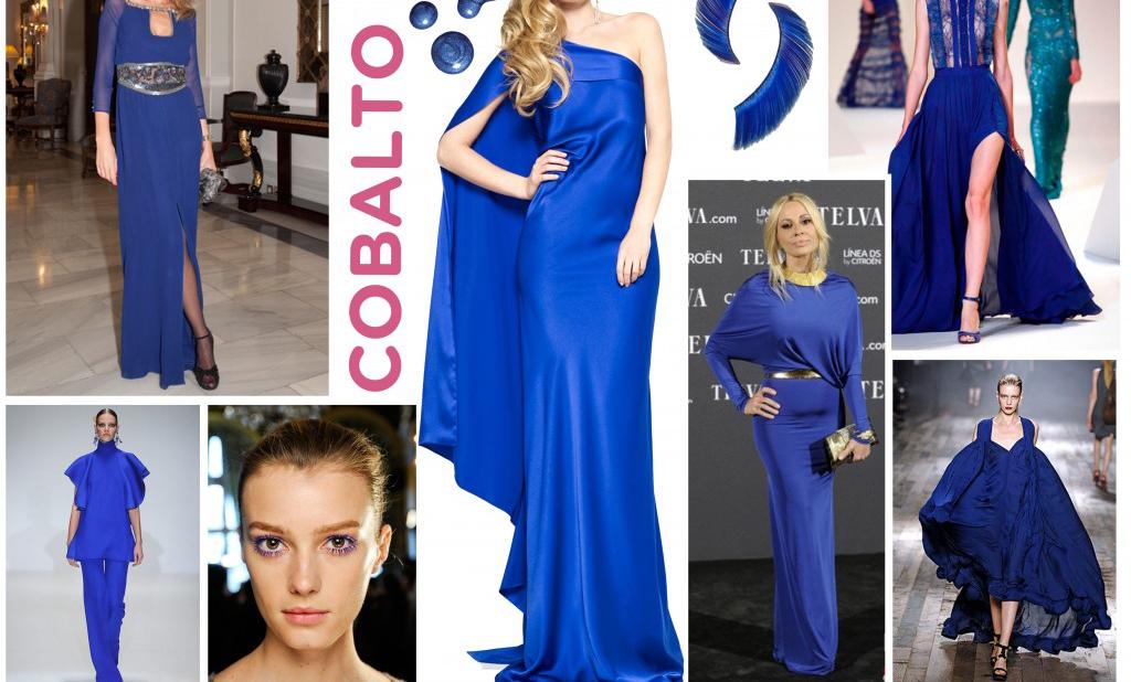 Tendencia en vestidos azul cobalto