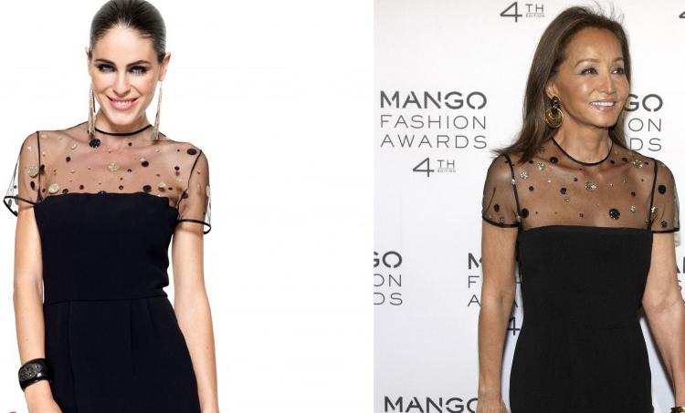 Isabel presley con vestido little black dress de jorge Vazquez
