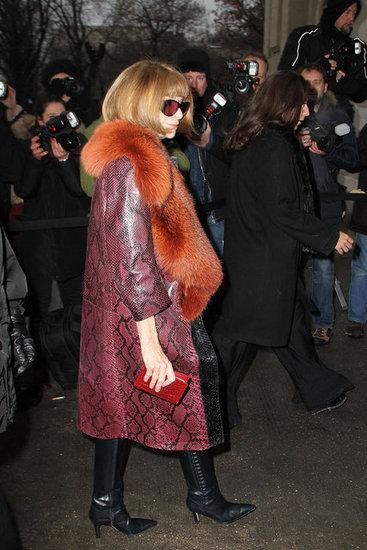 Anna Wintour en el desfile de Chanel alta costura