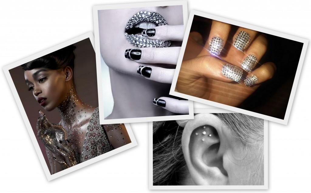 Utiliza diamante para decorar el cuerpo