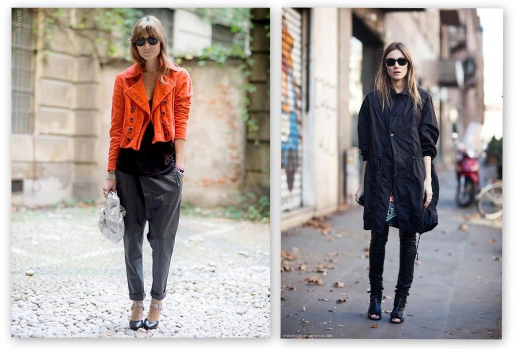 La diseñadora Giorgia Tordini con looks casual