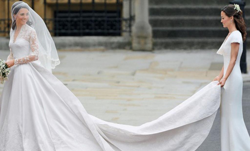 vestido blanco de cola