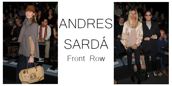 ANDRES SARDÁ front row