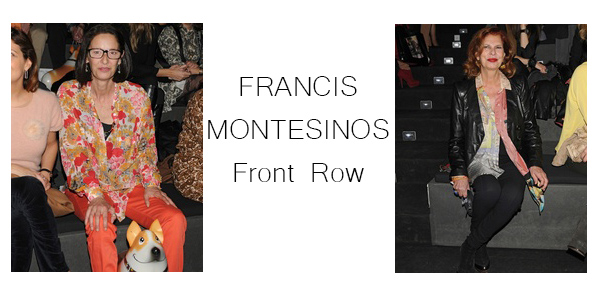 FRANCIS MONTESINOS front row
