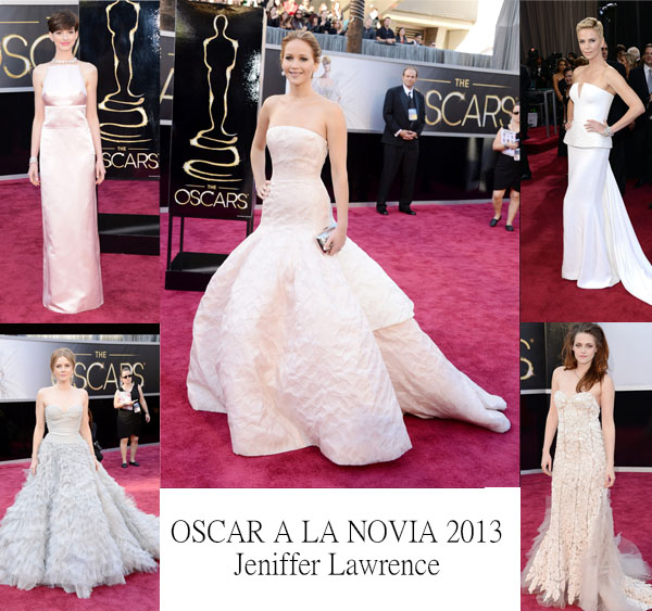 vestidos blanco novias oscar 2013