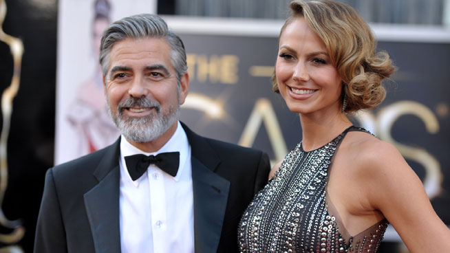 oscar 2013: george-clooney-stacy-keibler