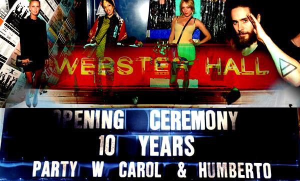 decimo aniversario de openig ceremony