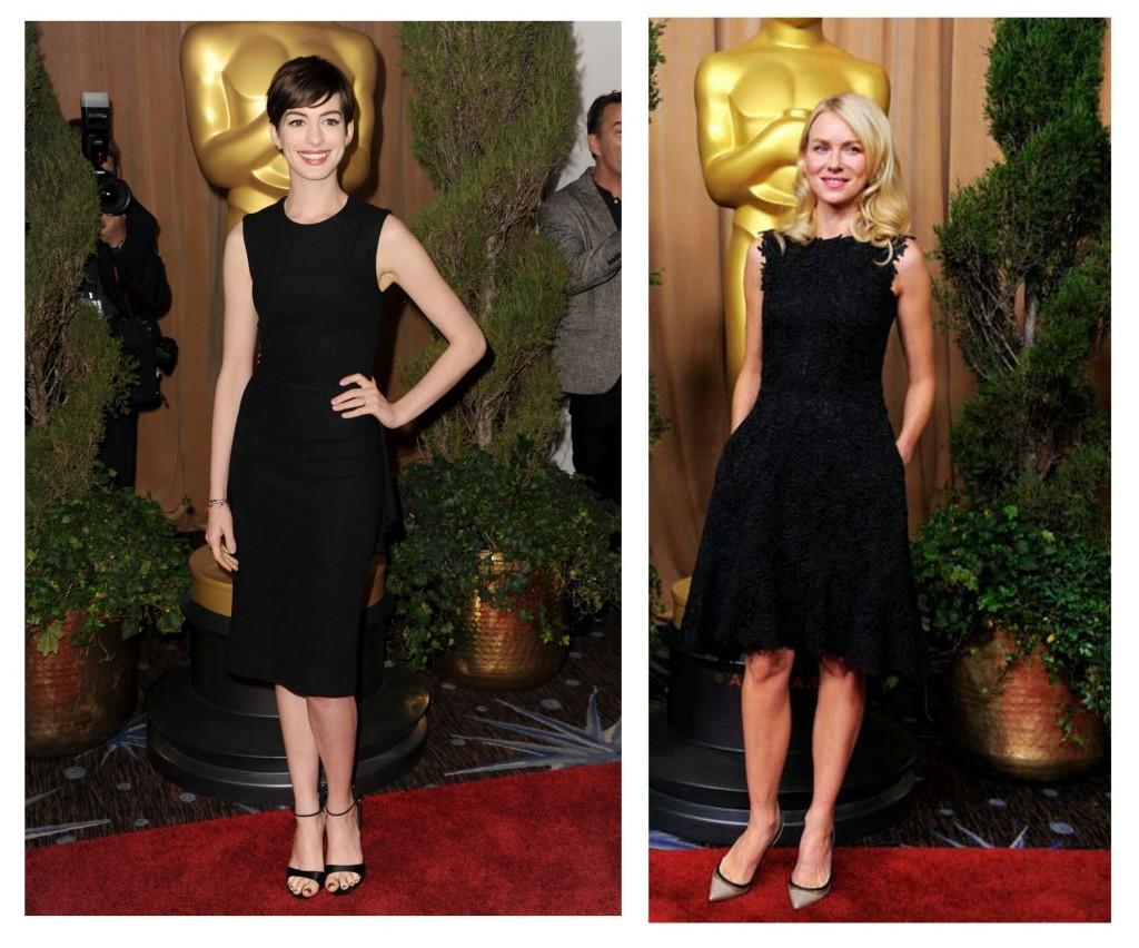 Naomi Watts y Anne Hathaway en almuerzo de los nominados al oscar