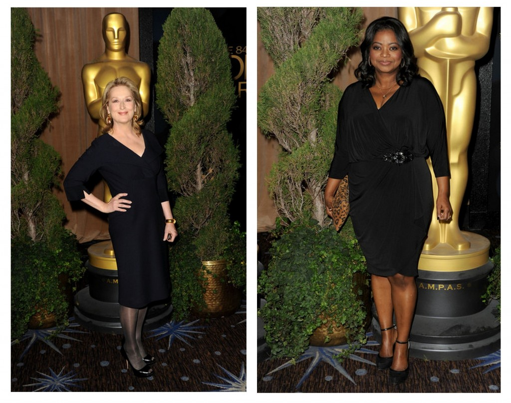Meryl Streep y Octavia Spencer almuerzo oscar 2013