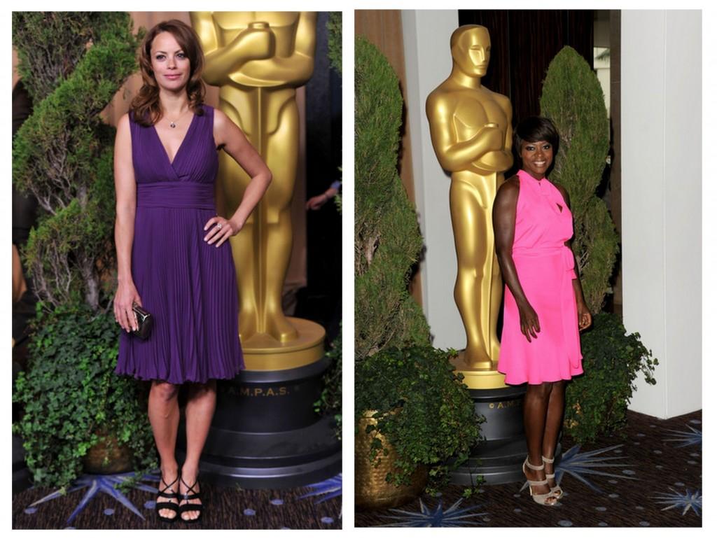 Berenice Bejo y Viola Davis almuerzo nominados a los oscar 2013