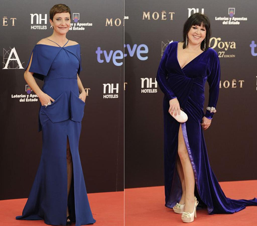 Eva Hache y Loles León Gala de los Goya 2013