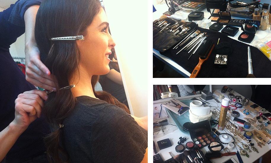 Maquillaje y peluquería del shooting de La Más Mona