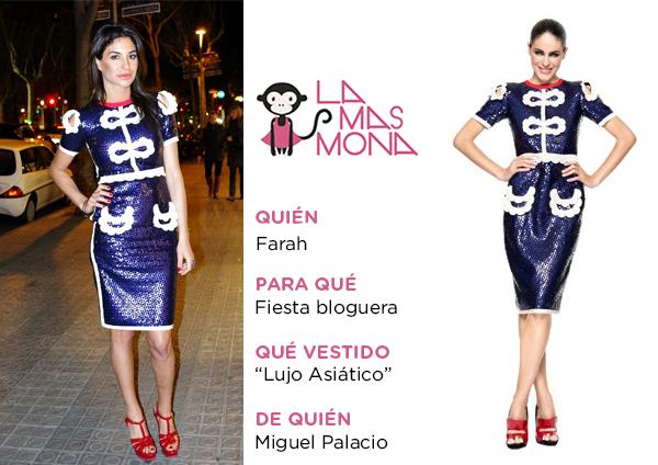 Farah alquila un vestido de Miguel Palacio