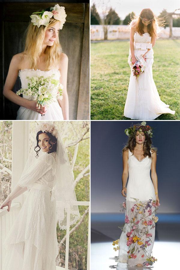 Vestido de novias campestres