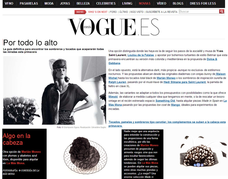 CLIPPING DE VOGUE EN LA MAS MONA