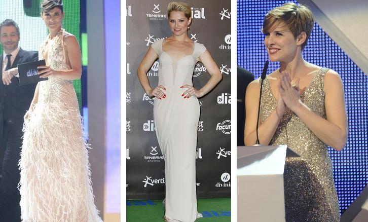 Vestidos nude en la gala de los premios de Cadena Dial