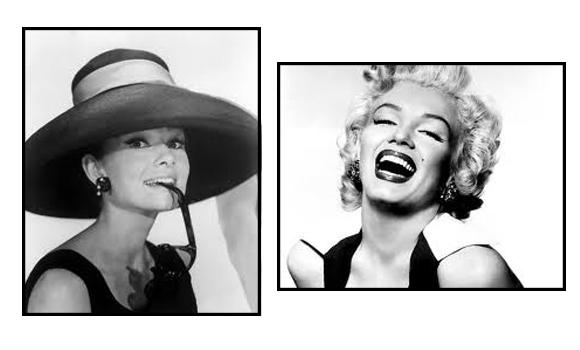 Audrey Hepburn y Marilyn Monroe
