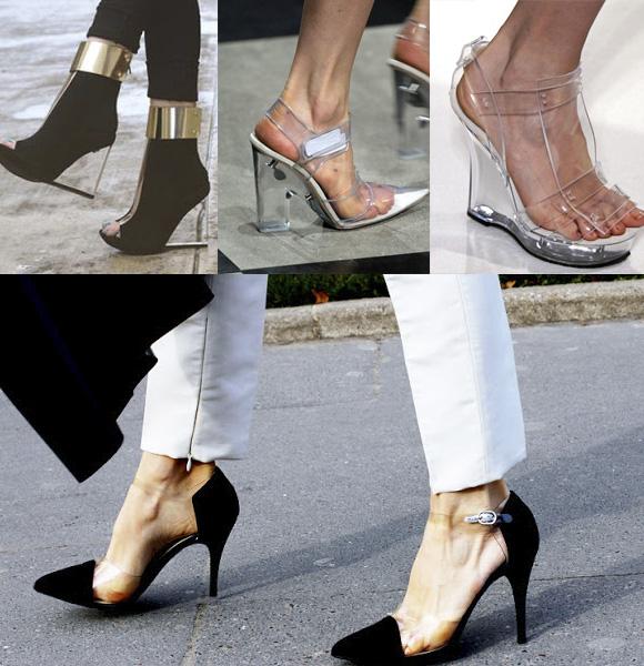 tendencia en zapatos transparentes