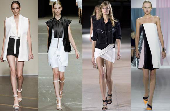 blanco y negro en alta costura