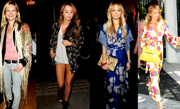 los kimonos de las famosas