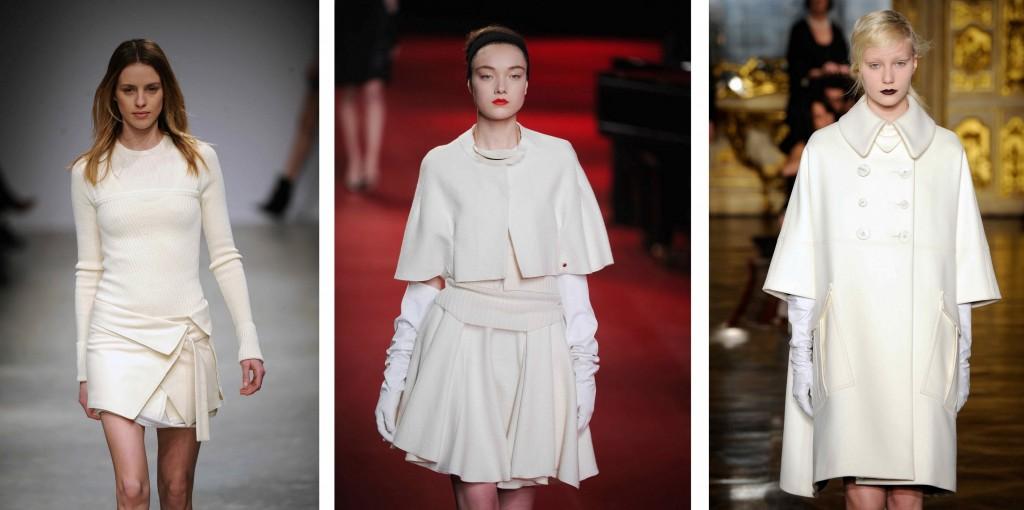 El color blanco como tendencia invierno2013