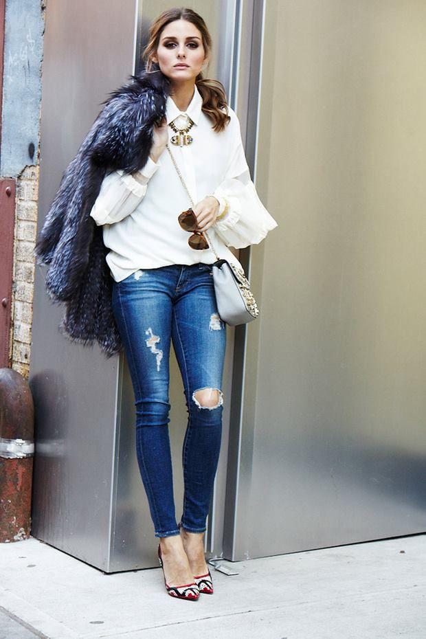 1. abrigo piel street style