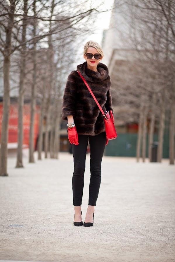 7. abrigo piel street style