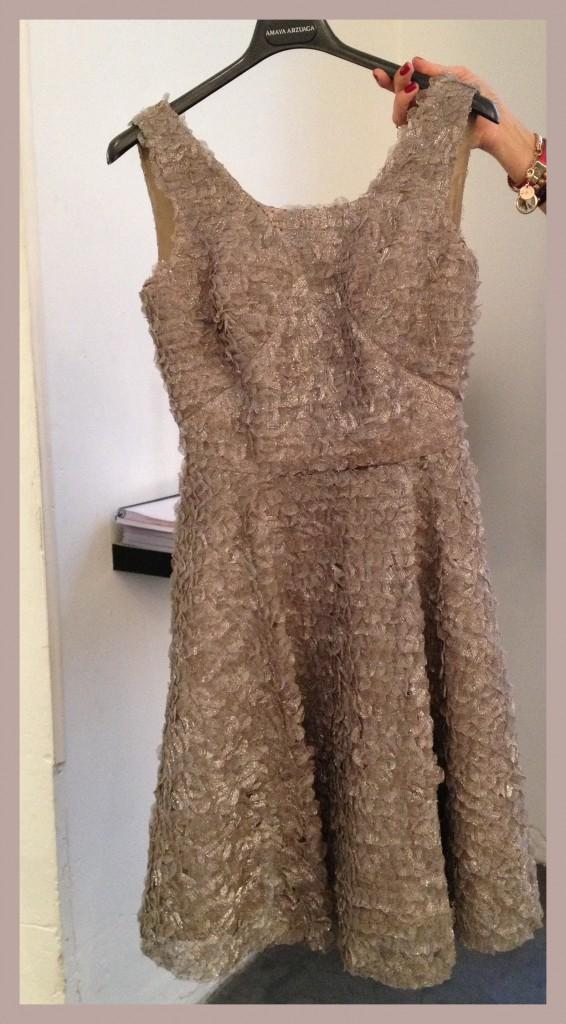 Vestido texturas de Amaya Arzuaga PV14