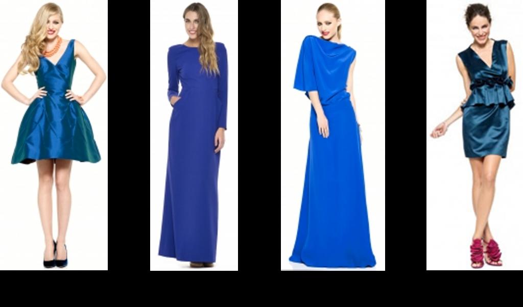 vestidos azules la más mona