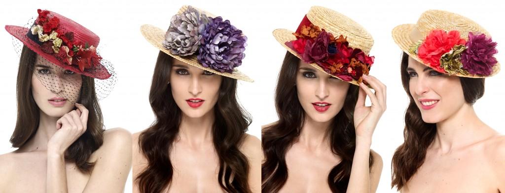 canotiers y sombreros para bodas