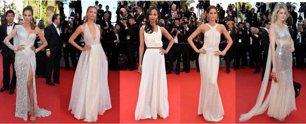 tendencia color blanco en festival de cannes