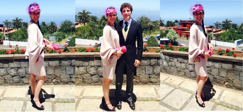vestido color nude para boda de dia