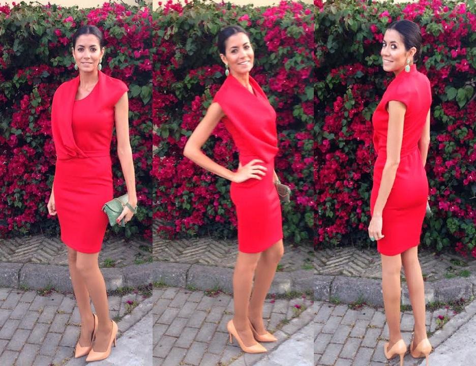 vestido rojo amaya arzuaga