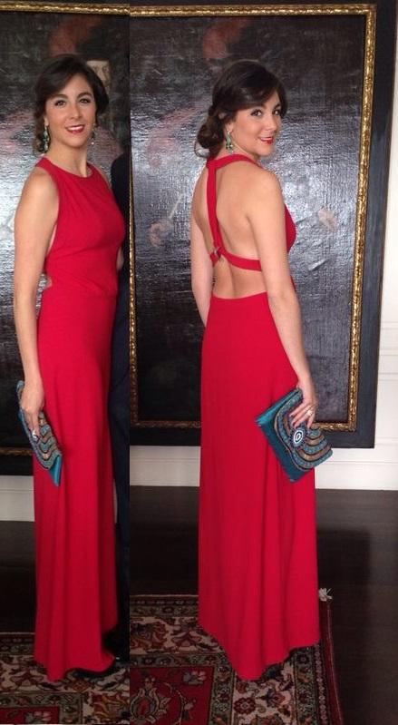 Vestido largo Gala rojo