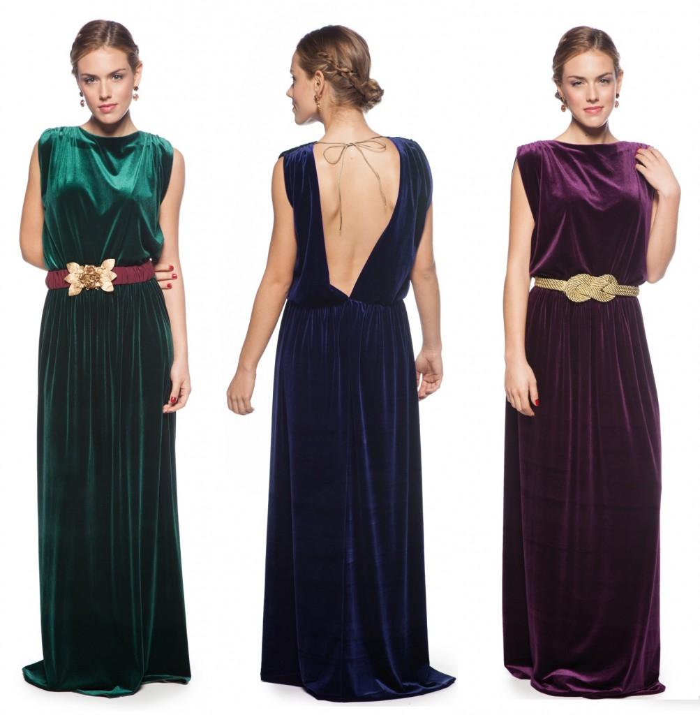 vestido largo terciopelo