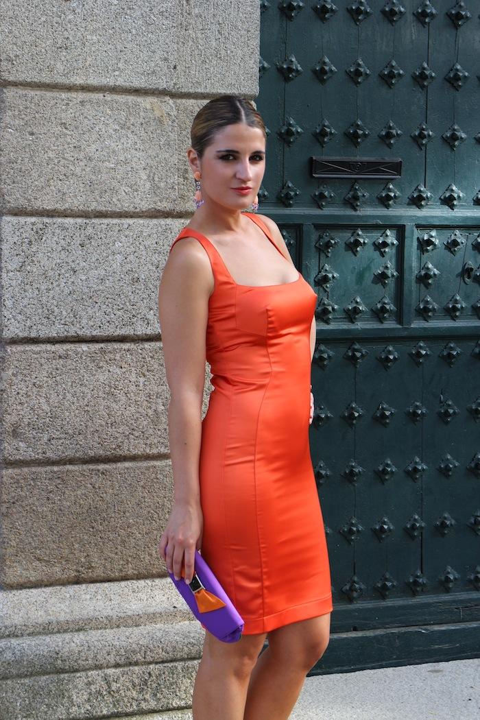 Vestido naranja boda