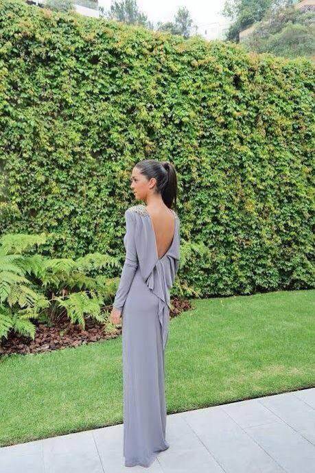 Vestidos cortos para bodas manga larga