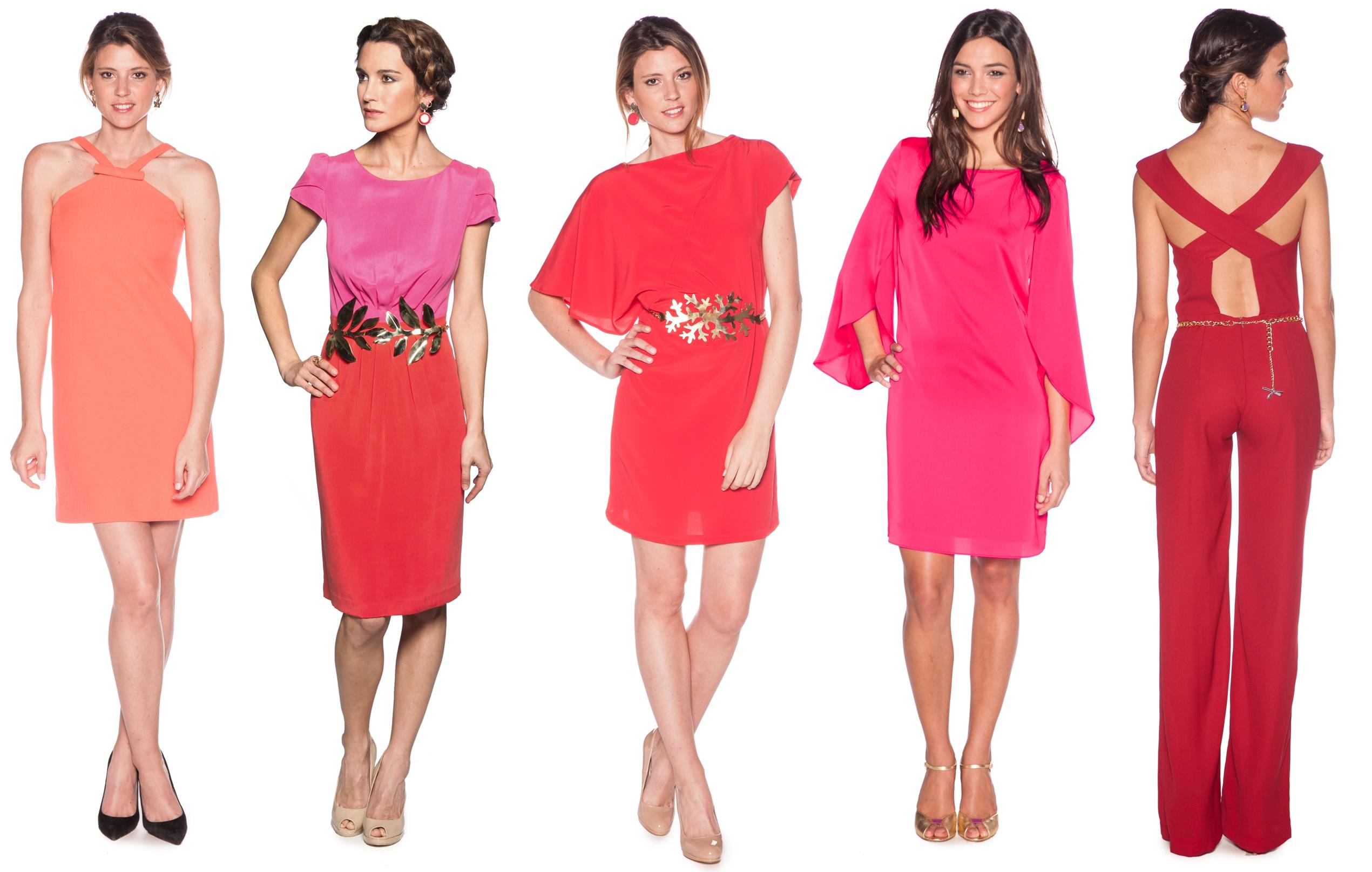 vestidos rojos y rosas