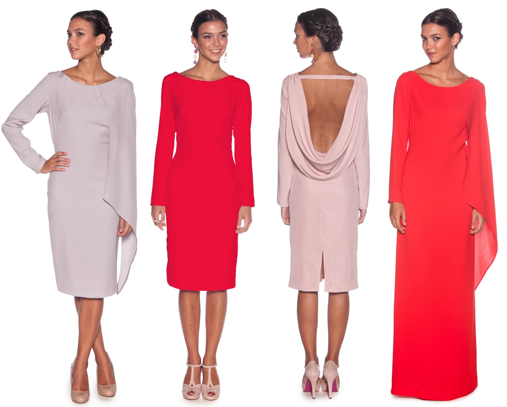 vestidos de manga larga de lamasmona.com