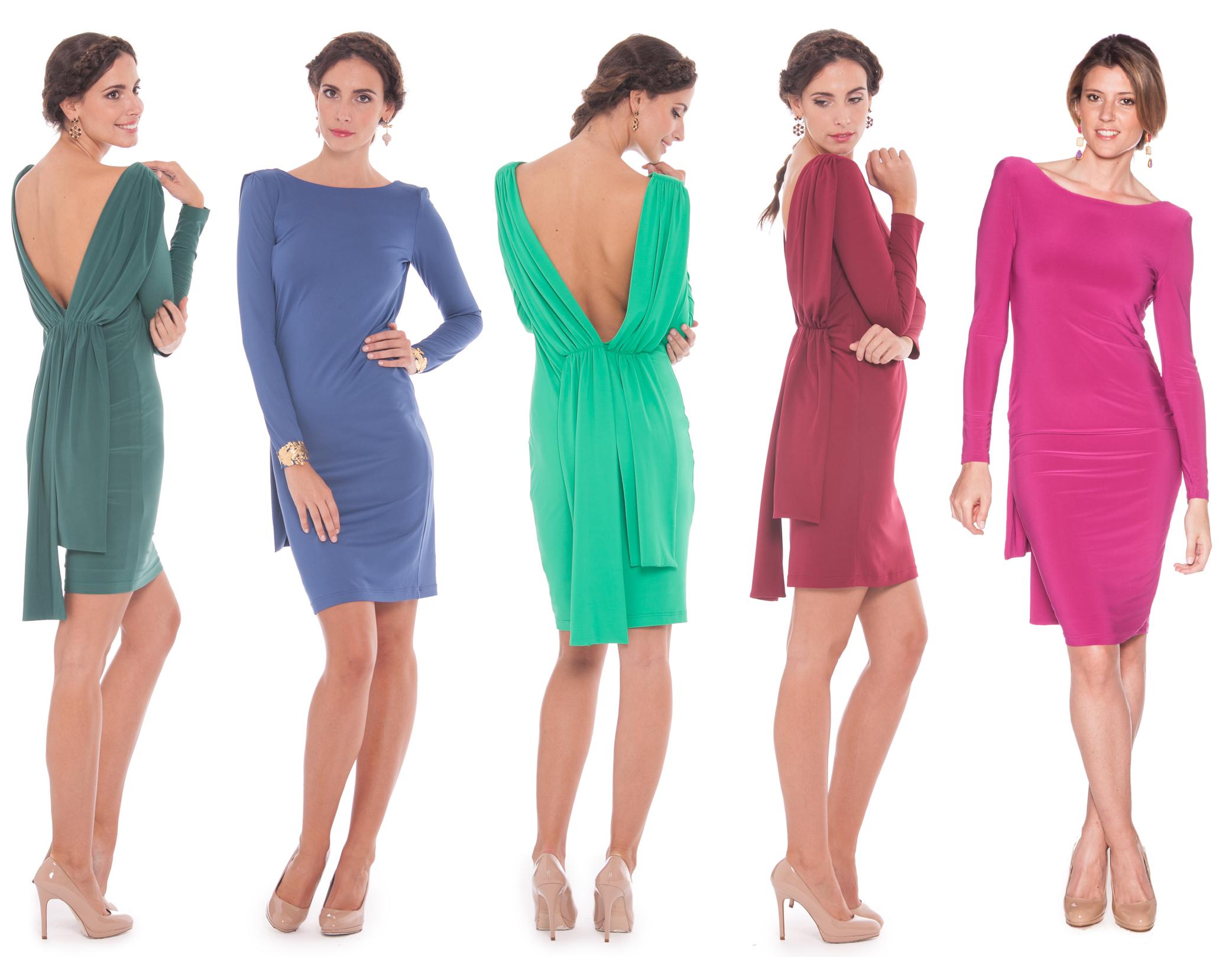 vestidos de punto de alquiler en lamasmona.com