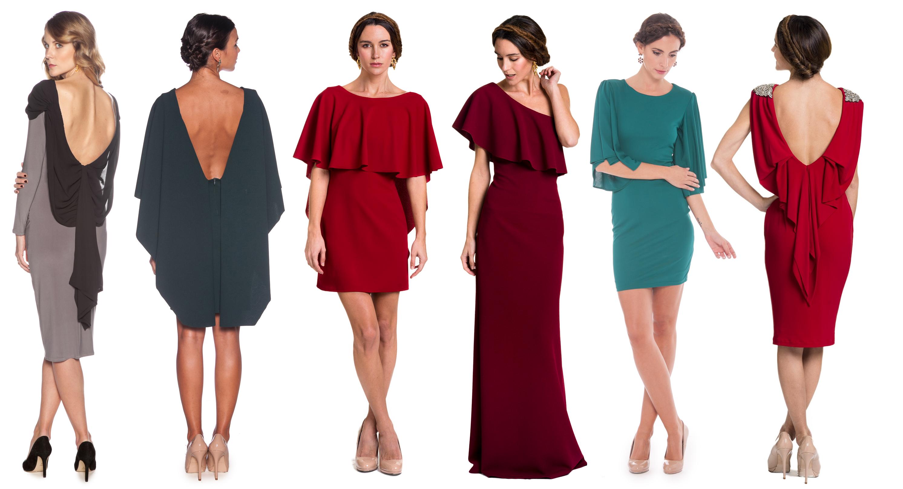 vestidos de punto con capa lamasmona.com