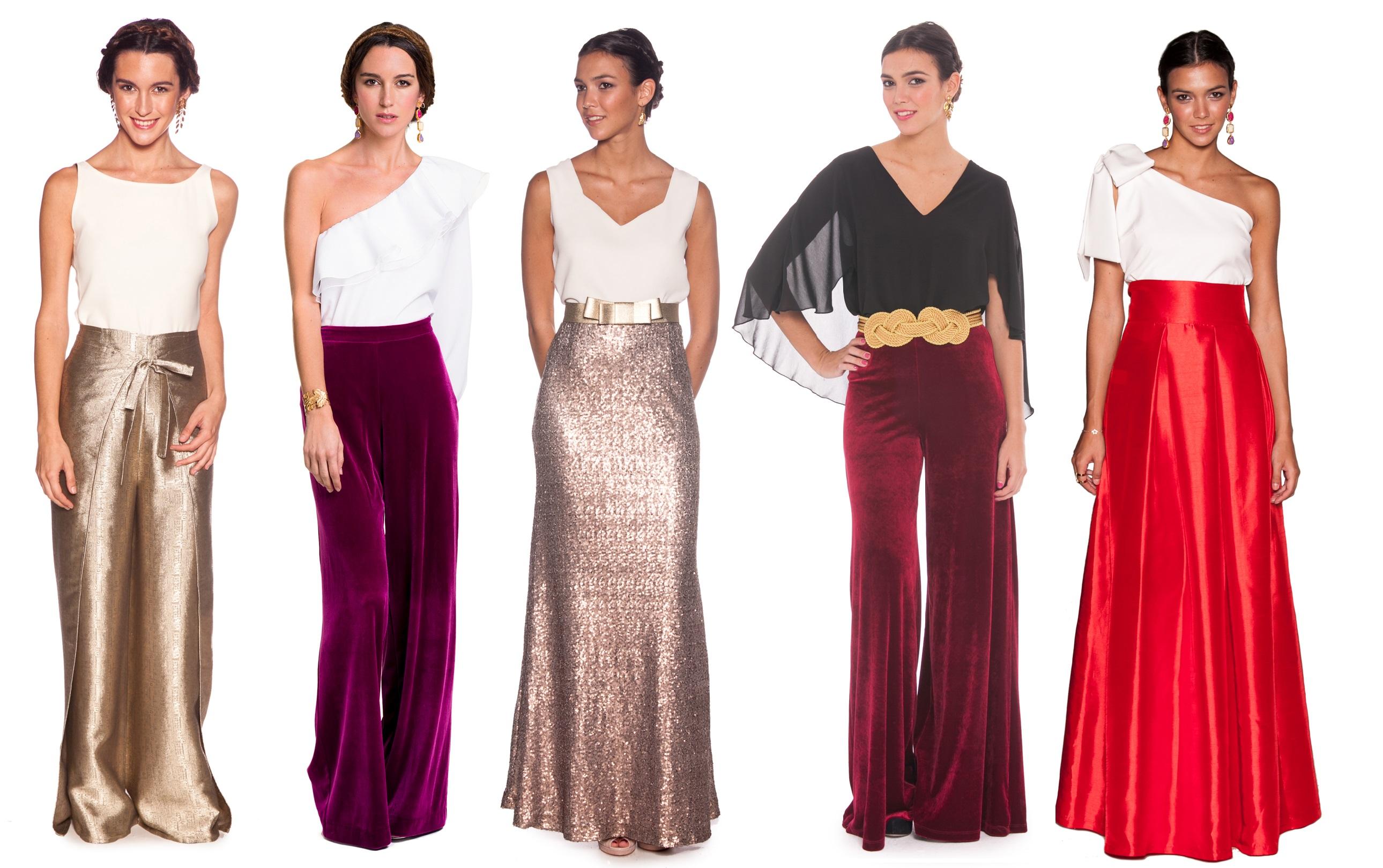 faldas y pantalones para fiestas de navidad de lamasmona.com