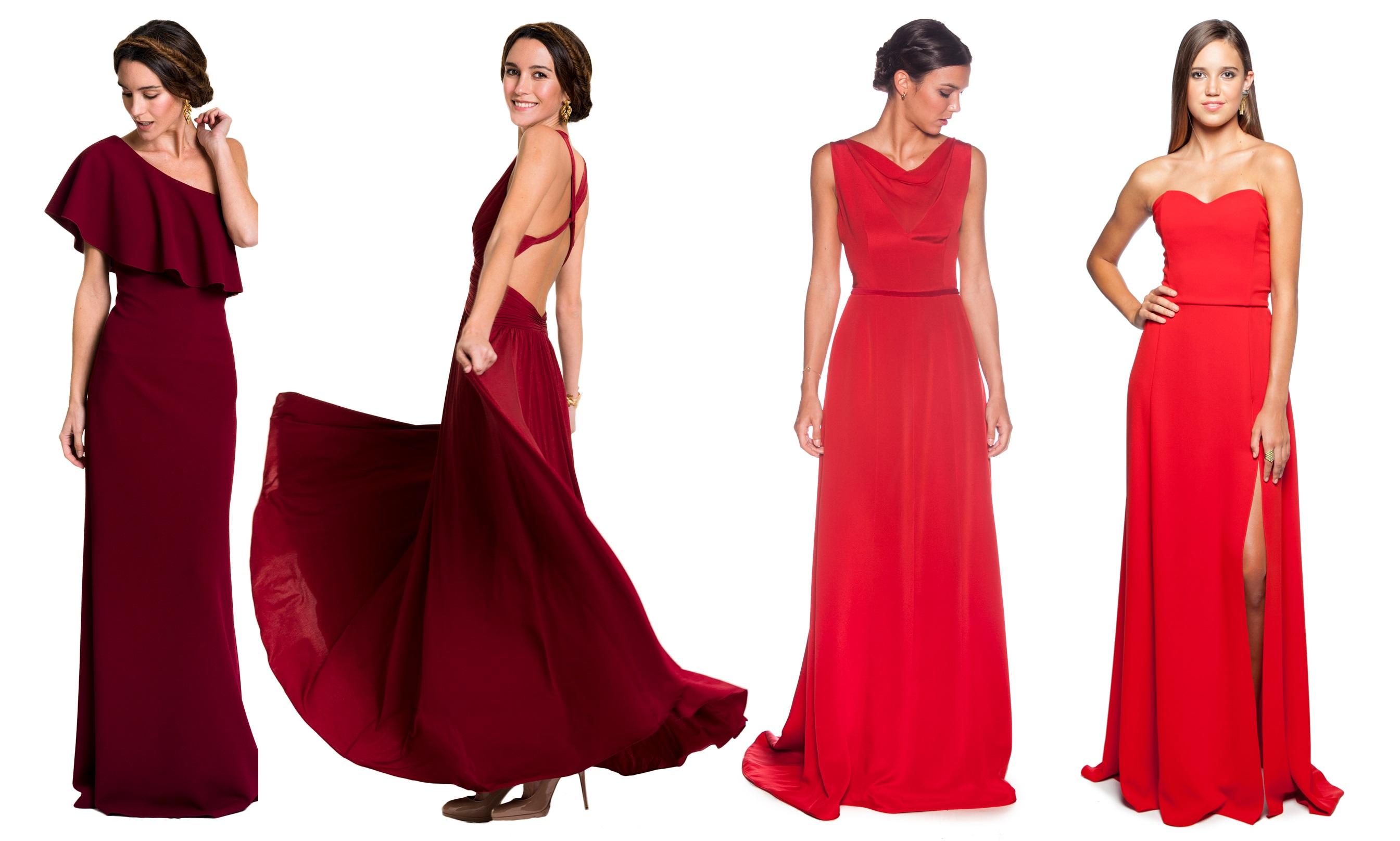 vestidos rojos para invitadas de alquiler en lamasmona.com