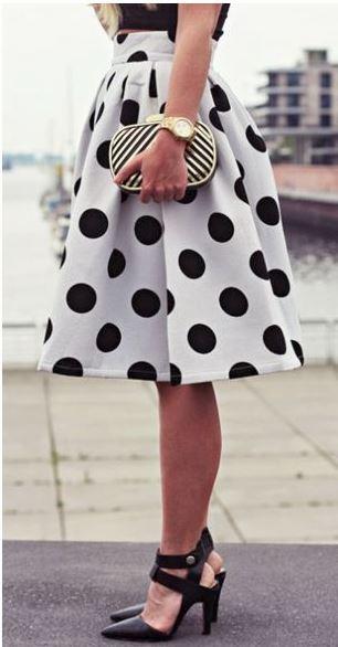 falda de lunares lamasmona.com