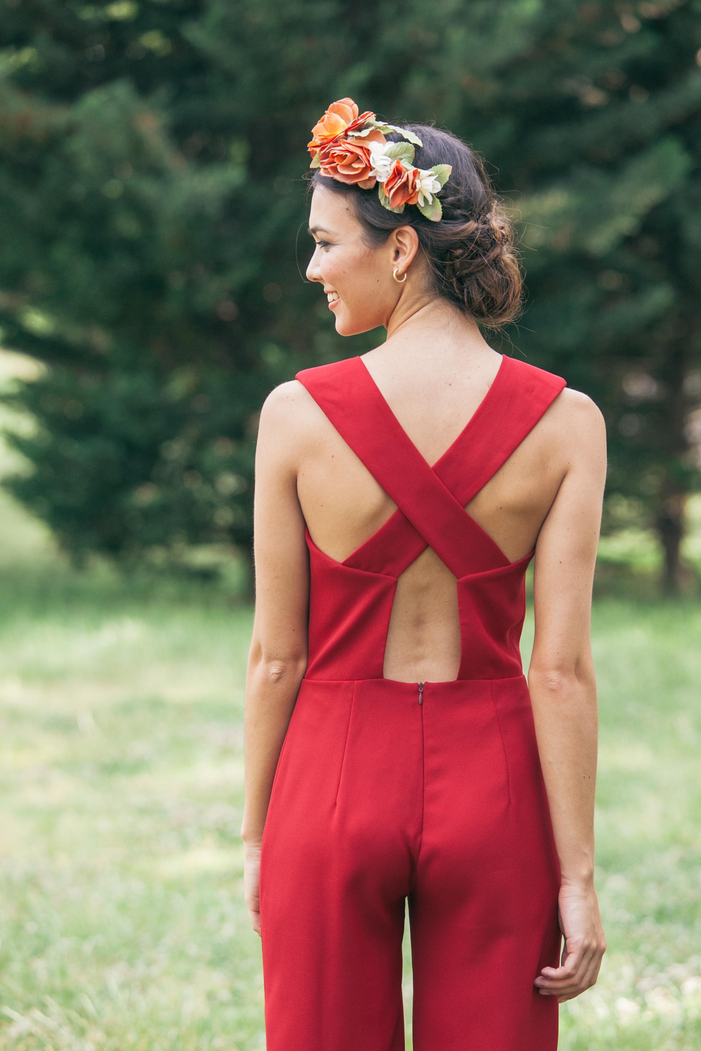 look de boda con corona de lamasmona.com