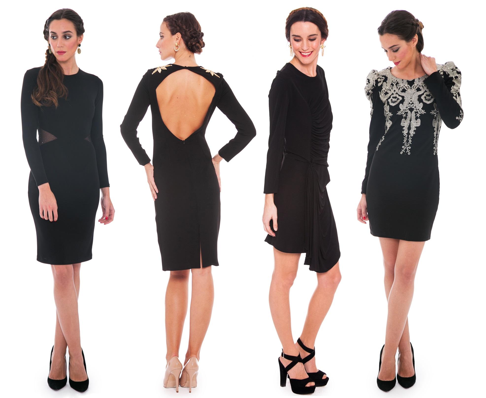 vestidos de fiesta negros de lamasmona.com