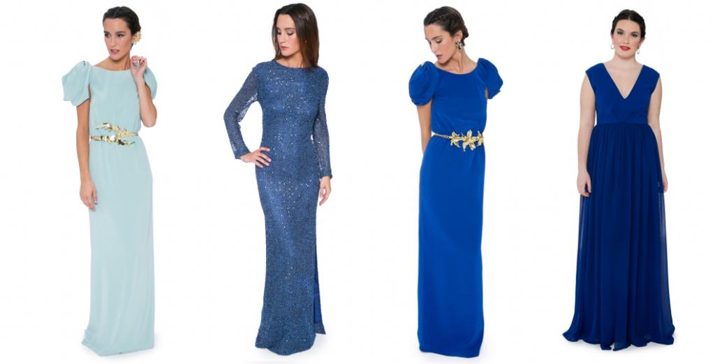 Vestidos azules para La Mas Mona.com