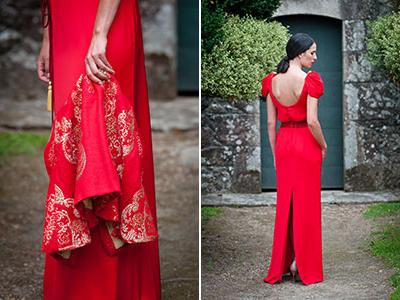 vestido rojo largo para invitada de La Mas Mona.com