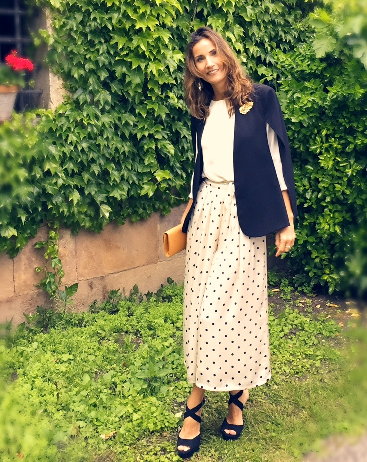 Pantalon culotte para invitada de boda de lamasmona.com